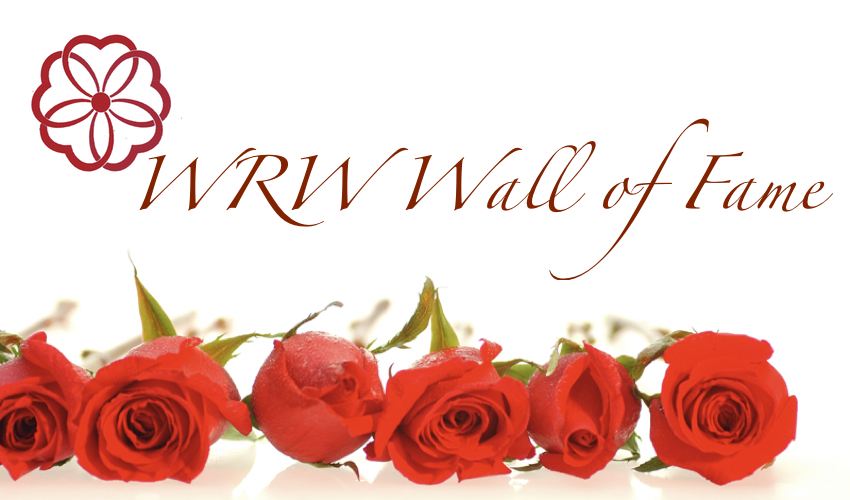 Roses below the words WRW WALL OF FAME