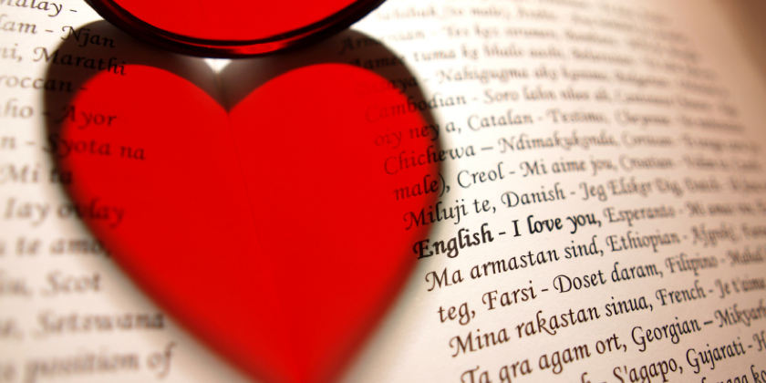 Heart on a book