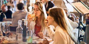 Lovely women having lunch